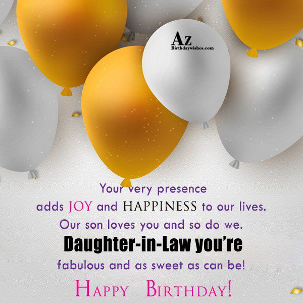 Your very presence adds joy and happiness to our… - AZBirthdayWishes.com