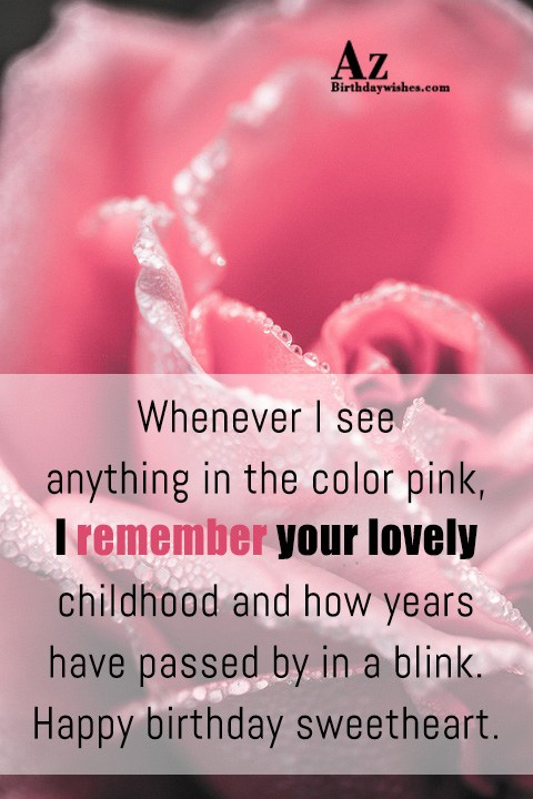 Whenever I see anything in the color pink I… - AZBirthdayWishes.com
