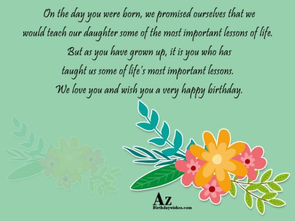On the day you were born we promised ourselves… - AZBirthdayWishes.com