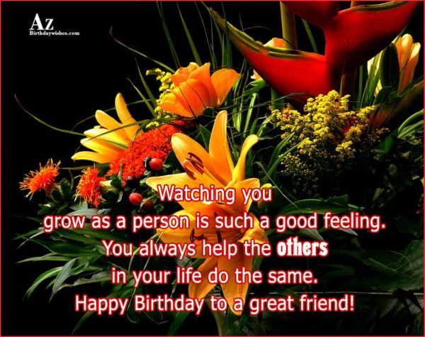 Watching you grow as a person is such a… - AZBirthdayWishes.com