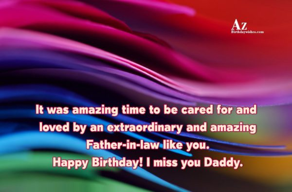 It was amazing time to be cared for and… - AZBirthdayWishes.com