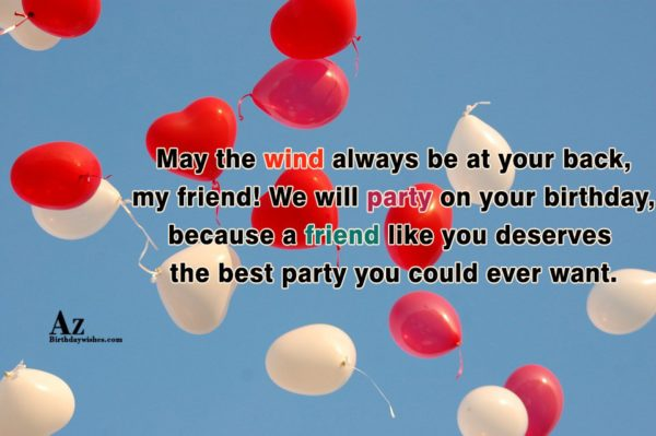 May the wind always be at your back my… - AZBirthdayWishes.com