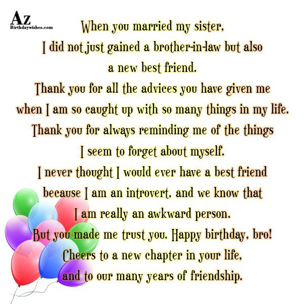 Happy birthday, bro! Cheers to a new chapter in your life - AZBirthdayWishes.com