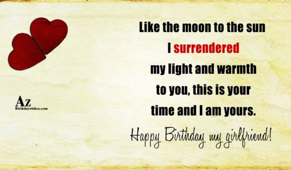 Like the moon to the sun I surrendered my… - AZBirthdayWishes.com