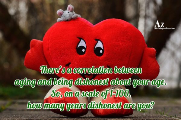 There's a correlation between aging and being dishonest… - AZBirthdayWishes.com