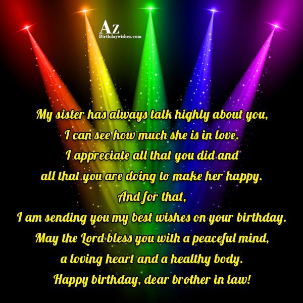 My sister has always talk highly about you I… - AZBirthdayWishes.com
