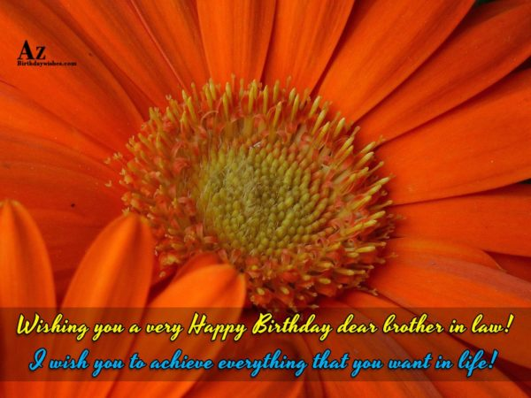 Wishing you a very Happy Birthday dear brother in… - AZBirthdayWishes.com