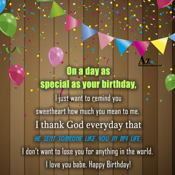 On a day as special as your birthday I… - AZBirthdayWishes.com