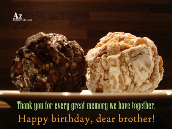 Thank you for every great memory we have together… - AZBirthdayWishes.com