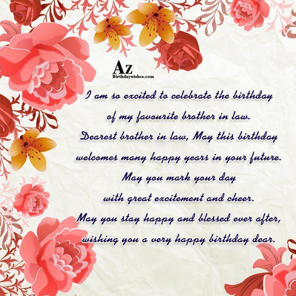 I am so excited to celebrate the birthday of… - AZBirthdayWishes.com