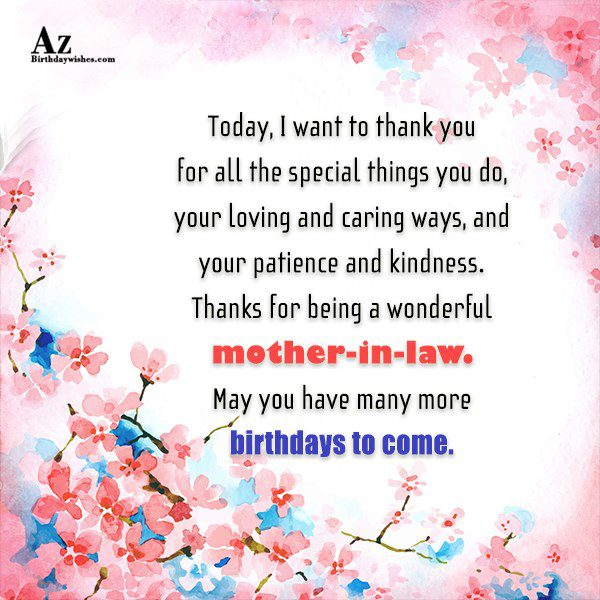 Today I want to thank you for all the… - AZBirthdayWishes.com