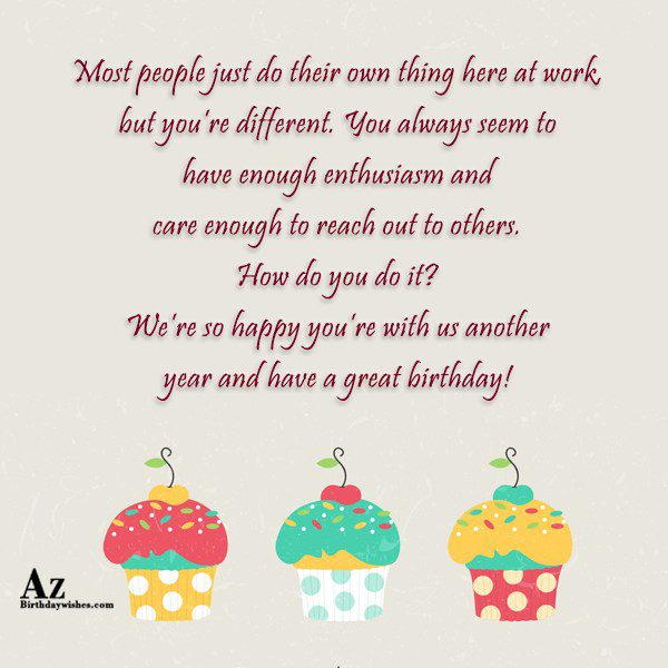 Most people just do their own thing here at… - AZBirthdayWishes.com