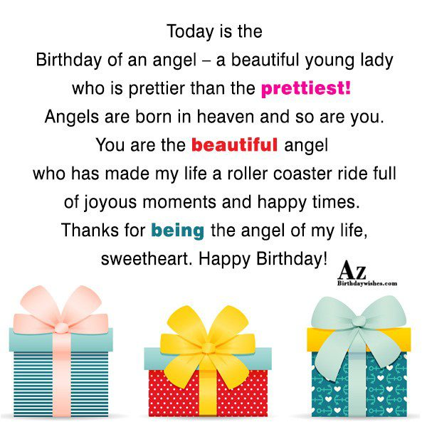 Today is the Birthday of an angel – a… - AZBirthdayWishes.com
