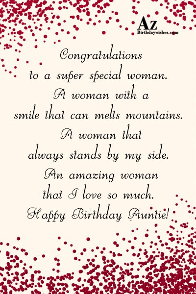 Congratulations to a super special woman… - AZBirthdayWishes.com