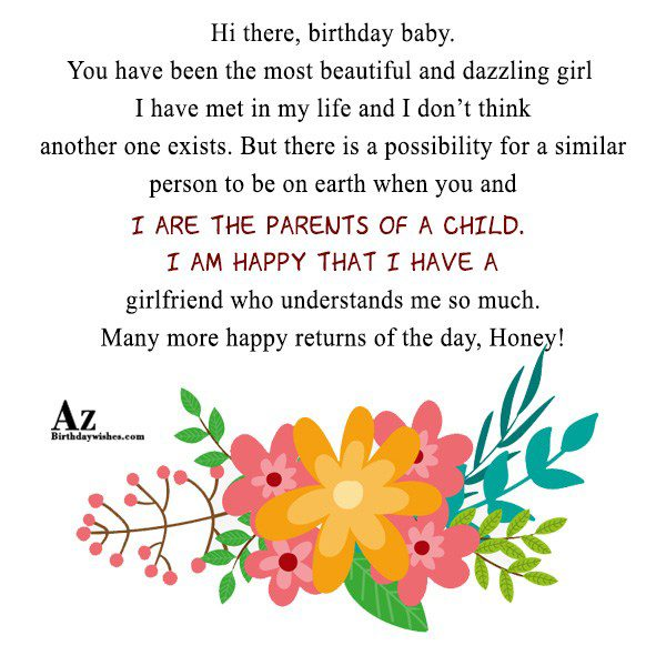 Hi there birthday baby You have been the most… - AZBirthdayWishes.com