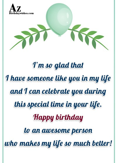 I hope your birthday brings you everything that you… - AZBirthdayWishes.com