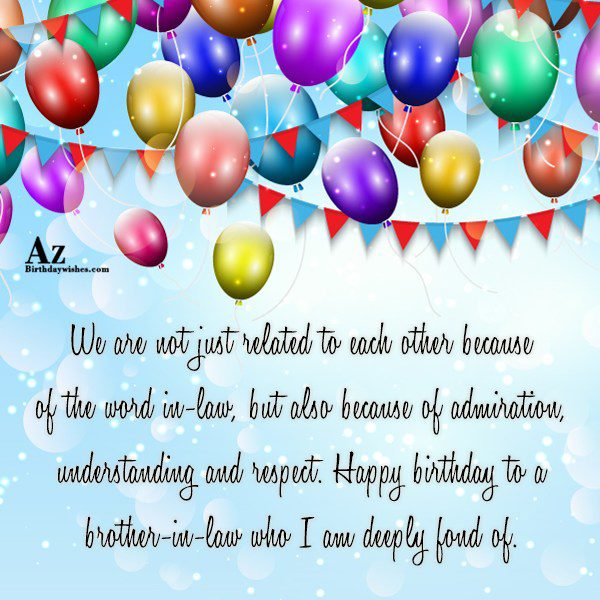 We are not just related to each other because… - AZBirthdayWishes.com