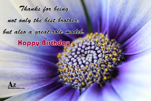 Thanks for being not only the best brother but… - AZBirthdayWishes.com