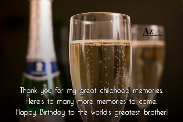 Thank you for my great childhood memories Here s… - AZBirthdayWishes.com
