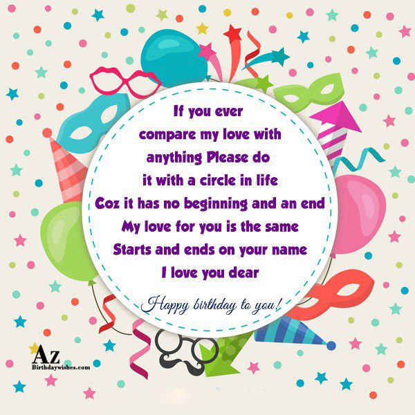 If you ever compare my love with anything Please… - AZBirthdayWishes.com