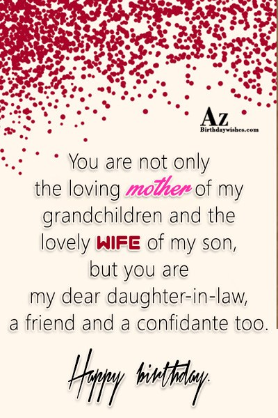 You are not only the loving mother of my… - AZBirthdayWishes.com
