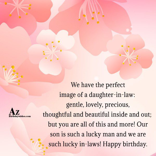 We have the perfect image of a daughter-in-law gentle… - AZBirthdayWishes.com