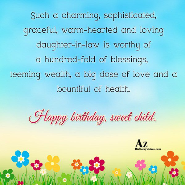 Such a charming sophisticated graceful warm-hearted and loving daughter-in-law… - AZBirthdayWishes.com