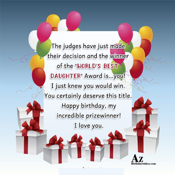 The judges have just made their decision and the… - AZBirthdayWishes.com