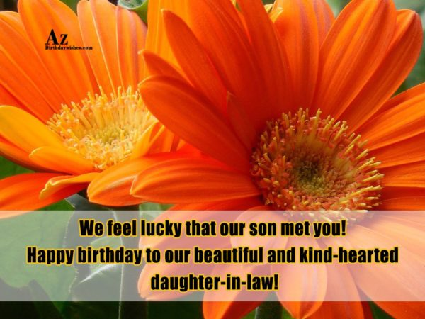 We feel lucky that our son met you Happy… - AZBirthdayWishes.com