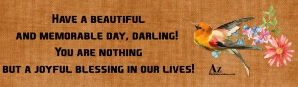 Have a beautiful and memorable day darling You are… - AZBirthdayWishes.com