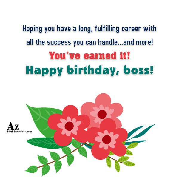 Hoping you have a long, fulfilling career… - AZBirthdayWishes.com
