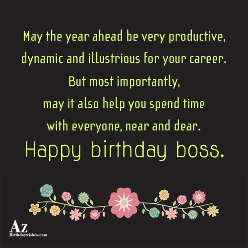 May the year ahead be very productive… - AZBirthdayWishes.com
