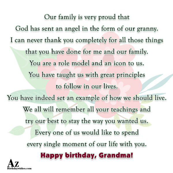 Our family is very proud that God has sent… - AZBirthdayWishes.com