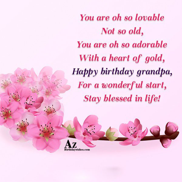 You are oh so lovable Not so old You… - AZBirthdayWishes.com