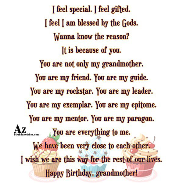 I feel special I feel gifted I feel I… - AZBirthdayWishes.com