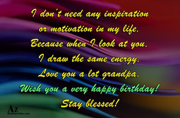 I don't need any inspiration or motivation in my… - AZBirthdayWishes.com