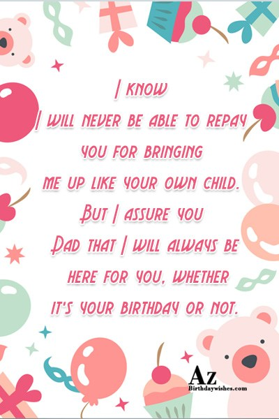 I know I will never be able to repay… - AZBirthdayWishes.com