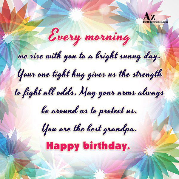 Every morning we rise with you to a bright… - AZBirthdayWishes.com
