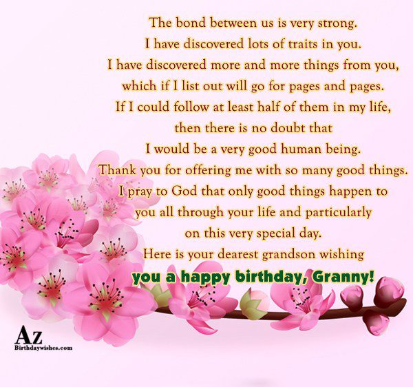 The bond between us is very strong I have… - AZBirthdayWishes.com