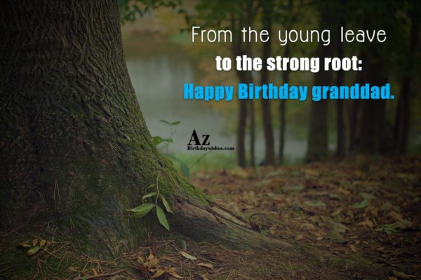 From the young leave to the strong root Happy… - AZBirthdayWishes.com