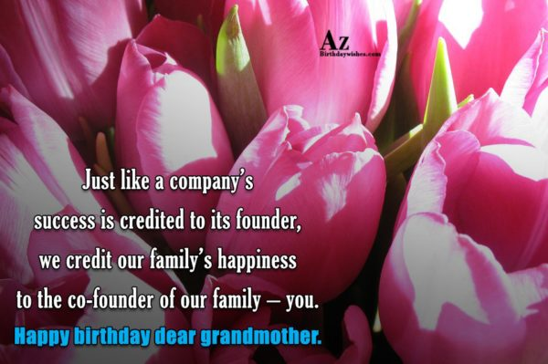 Just like a company s success is credited to… - AZBirthdayWishes.com