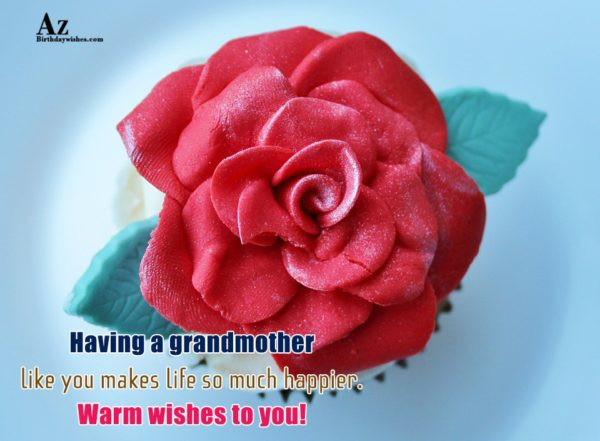 Having a grandmother like you makes life so much… - AZBirthdayWishes.com