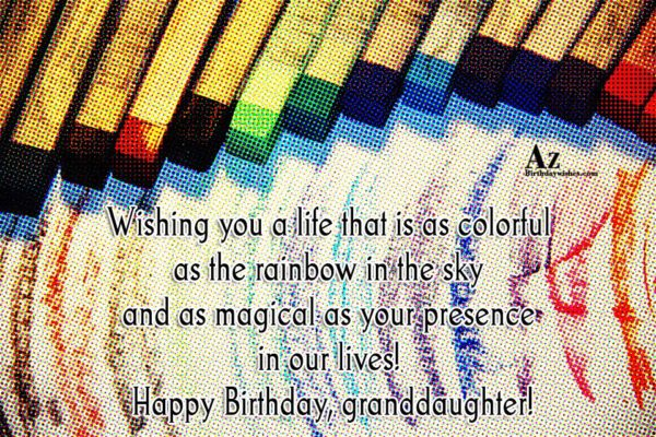 Wishing you a life that is as colorful as… - AZBirthdayWishes.com