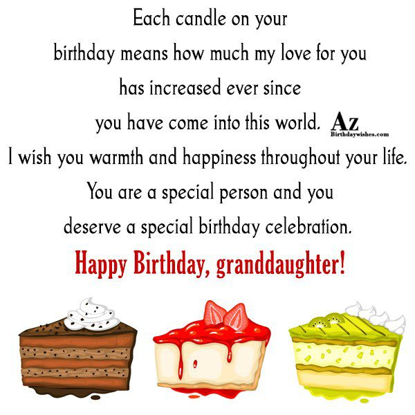 Each candle on your birthday means how much my… - AZBirthdayWishes.com