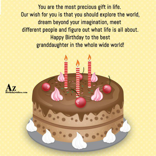 You are the most precious gift in life Our… - AZBirthdayWishes.com