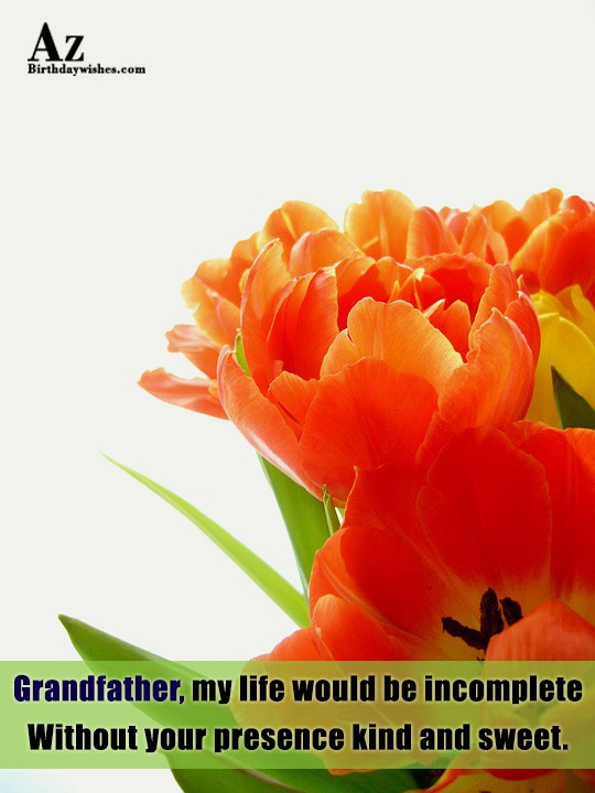 Grandfather my life would be incomplete Without your presence… - AZBirthdayWishes.com