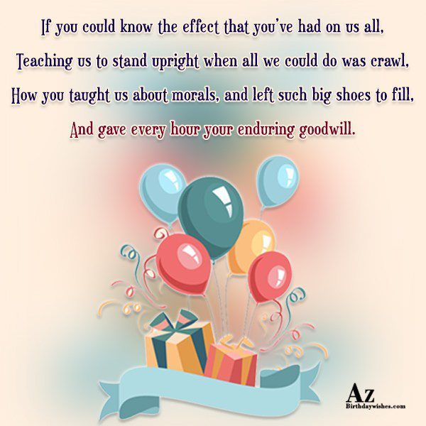 If you could know the effect that you ve… - AZBirthdayWishes.com