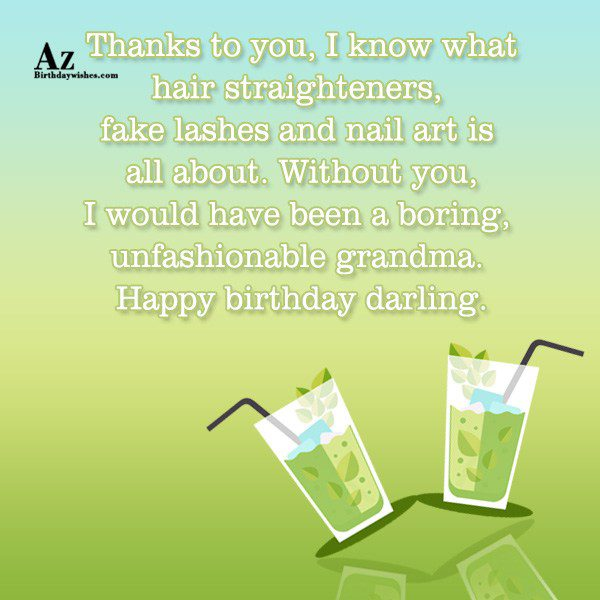 Thanks to you I know what hair straighteners fake… - AZBirthdayWishes.com