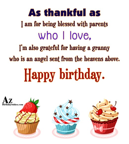 As thankful as I am for being blessed with… - AZBirthdayWishes.com
