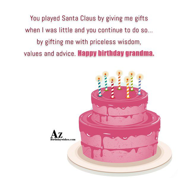 You played Santa Claus by giving me gifts when… - AZBirthdayWishes.com